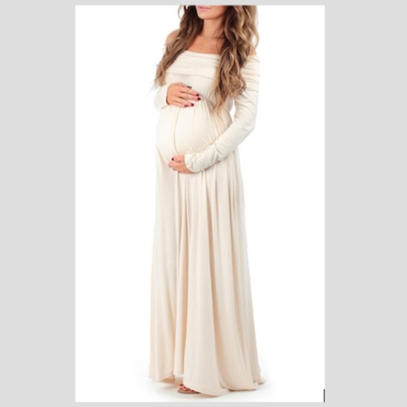 e83fb4abc87 Mother Bee Maternity Toffee Maternity Off-Shoulder
